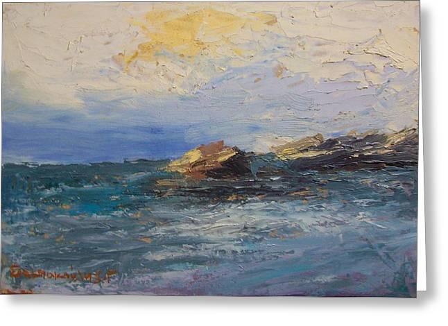Sea Rocks Greeting Card by George Siaba