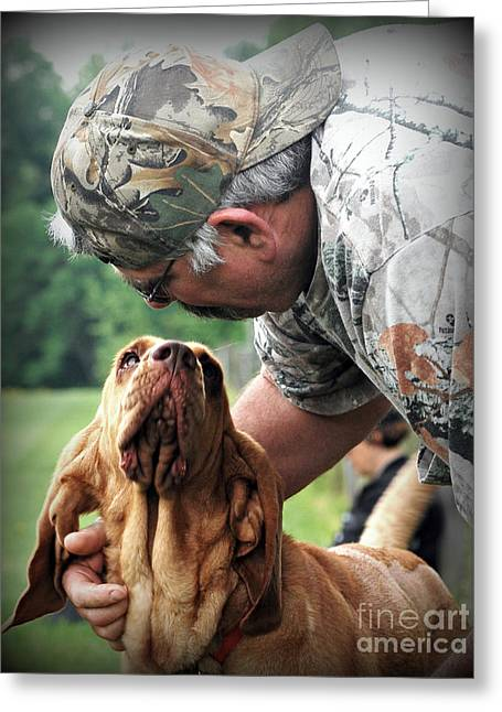 Search And Rescue Dog Greeting Card by Lila Fisher-Wenzel