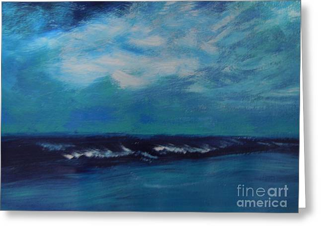 Seascape Greeting Card by Lam Lam