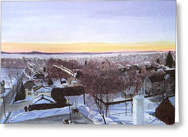 Sentinels At Dawn Greeting Card by Stella Sherman