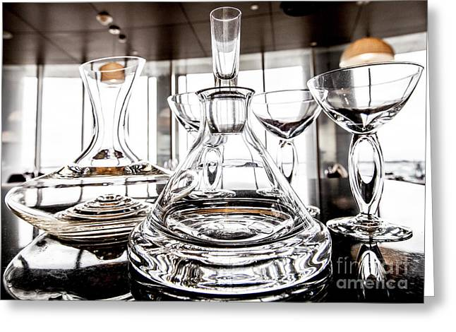 Shadow Of Luxury Glass Greeting Card by Chavalit Kamolthamanon