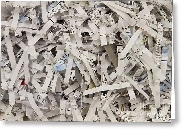 Shredded Paper Greeting Card