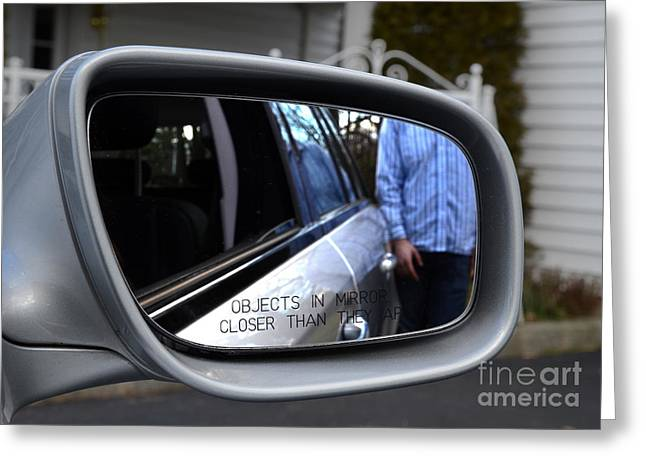 Side View Mirror Greeting Card by Photo Researchers