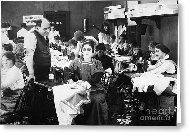 Silent Film Still: Sewing Greeting Card