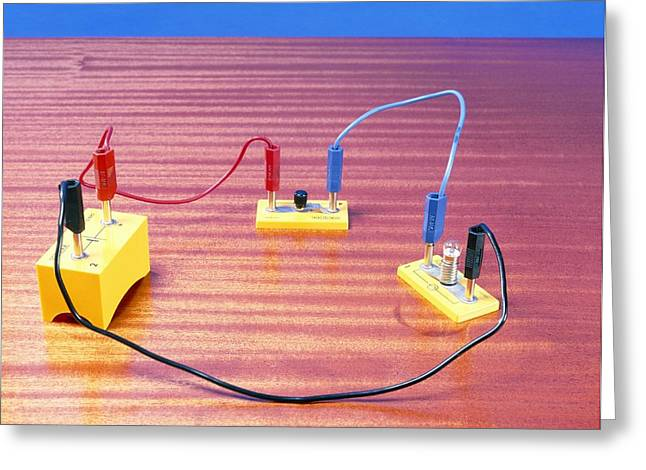 Simple Electrical Circuit Greeting Card by Andrew Lambert Photography