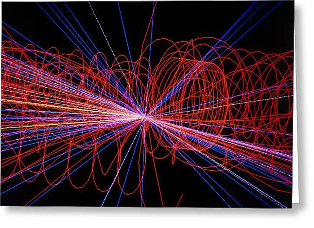 Simulation Of Higgs Boson Production Greeting Card