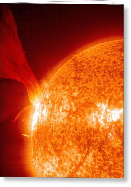 Solar Prominence Greeting Card by Sohoesanasa