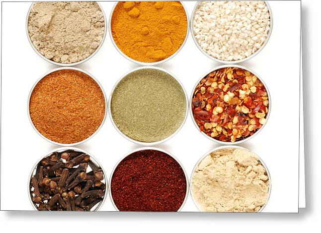 Spices Greeting Card by HD Connelly