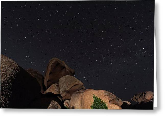 Stars In A Night Sky Greeting Card by Laurent Laveder