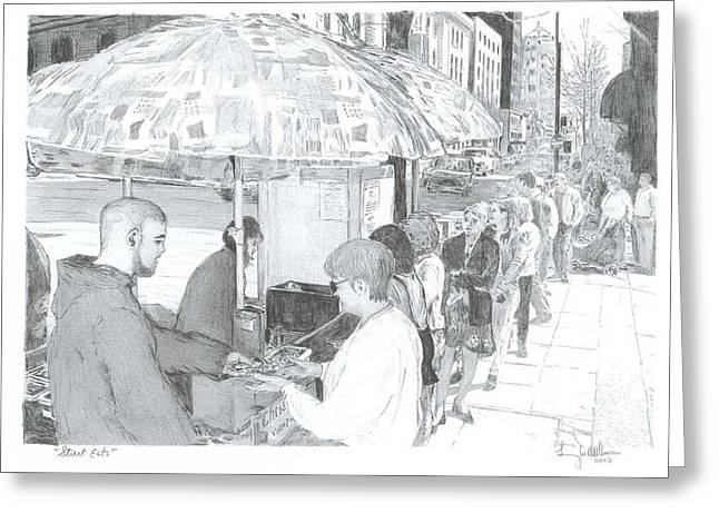 Street Eats Greeting Card by Larry Oldham