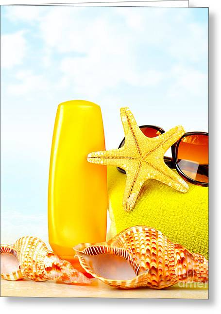 Summertime Holidays Background Greeting Card
