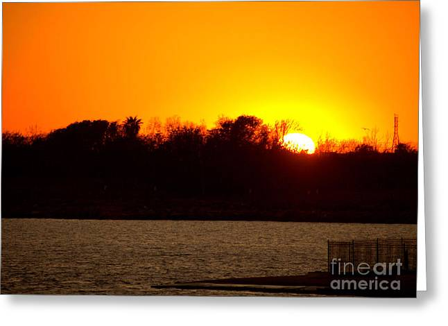 Sunset Greeting Card by Arthur Herold Jr