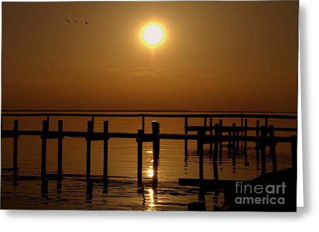 Sunset At Cobb Island Greeting Card