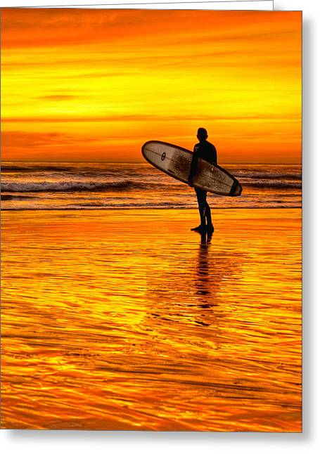 Surfing Sensations Greeting Card by Donna Pagakis