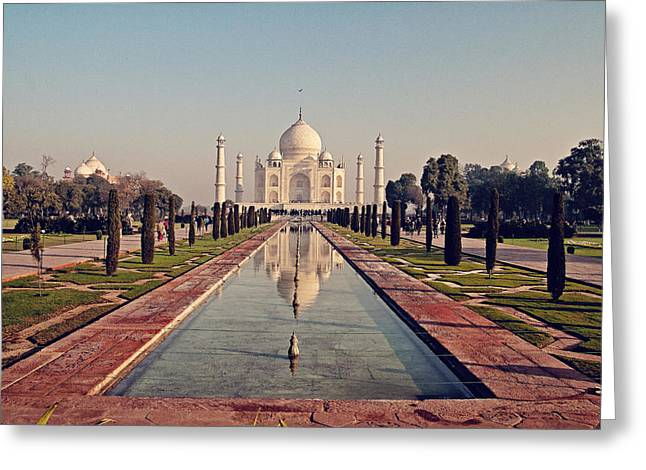 Taj Mahal Greeting Card by Benjamin Matthijs