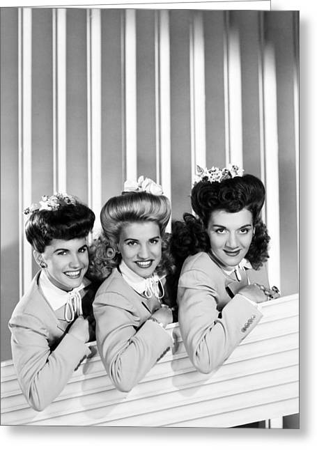 The Andrews Sisters Greeting Card