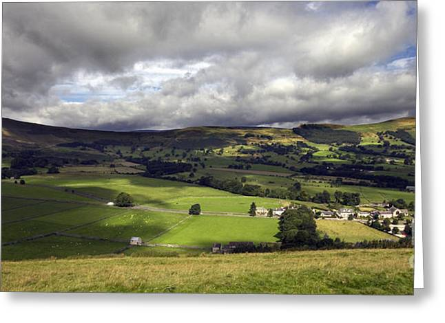 The Hope Valley Derbyshire Greeting Card by Darren Burroughs