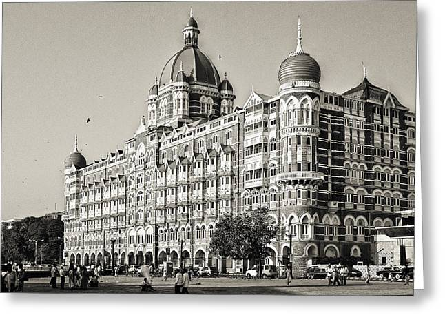 The Taj Mahal Palace Hotel Greeting Card by Benjamin Matthijs