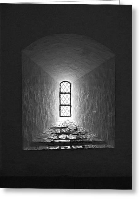 The Window Of The Castle Of Tavastehus Greeting Card by Jouko Lehto