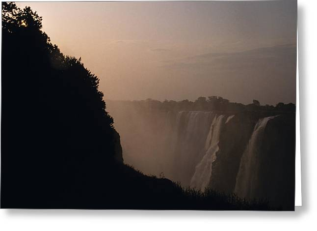 The Zambezi River Plummets Greeting Card by Jason Edwards