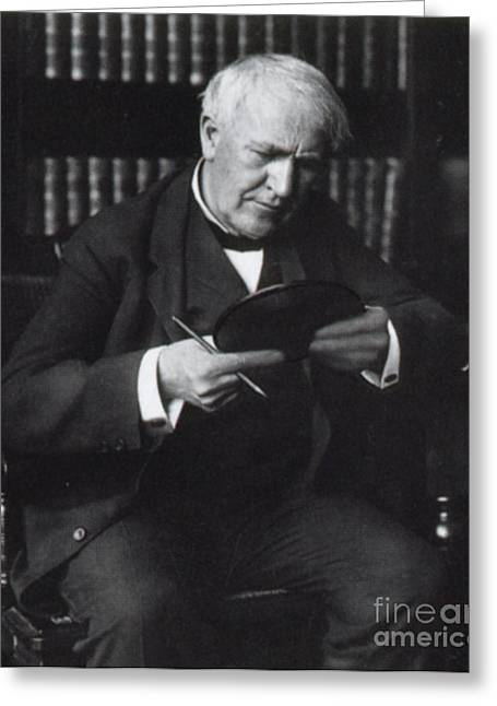 Thomas Edison, American Inventor Greeting Card