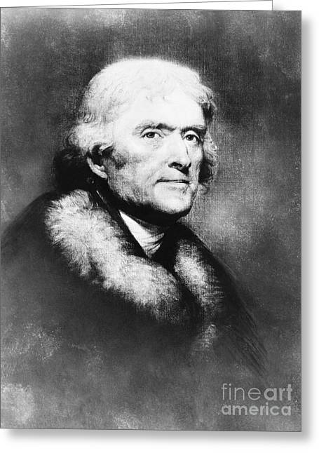 Thomas Jefferson, 3rd American President Greeting Card by Omikron