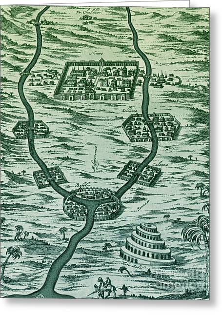 Tigris And Euphrates, Babylonia Greeting Card by Science Source