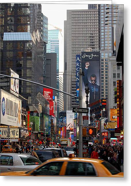 Times Square Greeting Card by RicardMN Photography