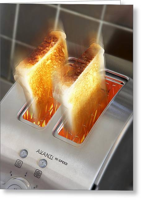Toast Greeting Card by Mark Sykes