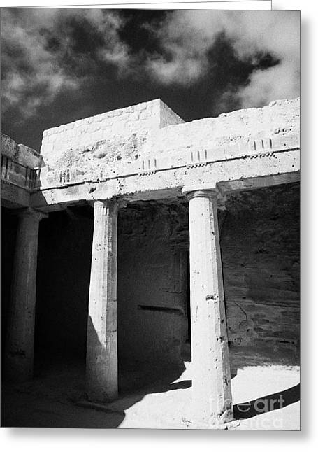 Tomb 3 Of Tombs Of The Kings World Heritage Site Paphos Republic Of Cyprus Greeting Card by Joe Fox