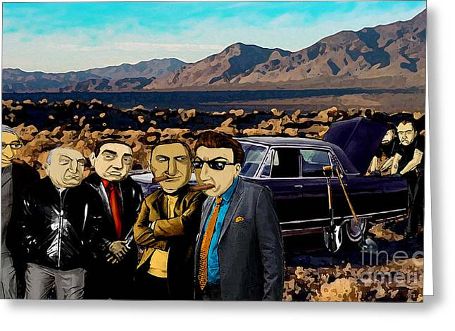 Goodfellas Greeting Cards - Tonys Now Trunk Music Greeting Card by D Rt