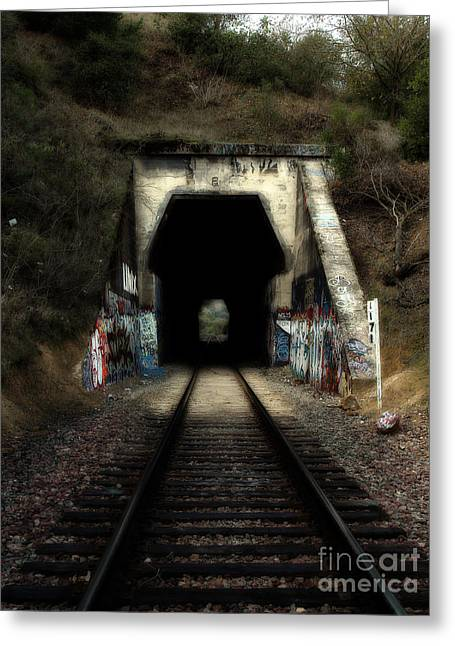 Train Tunnel At The Muir Trestle In Martinez California . 7d10220 Greeting Card by Wingsdomain Art and Photography