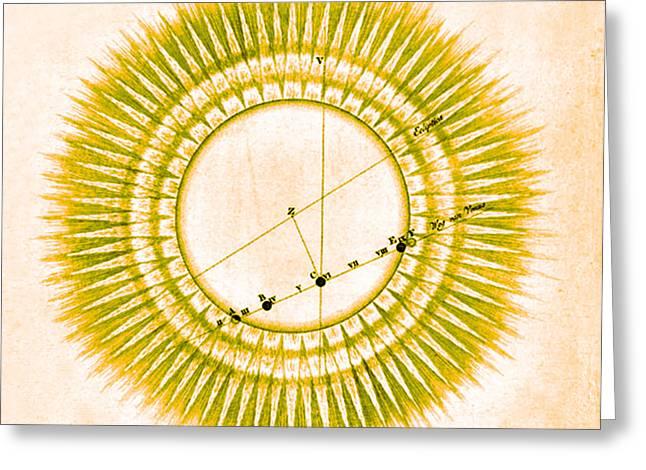 Transit Of Venus, 1761 Greeting Card