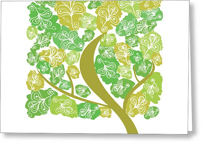 Tree Greeting Card by HD Connelly
