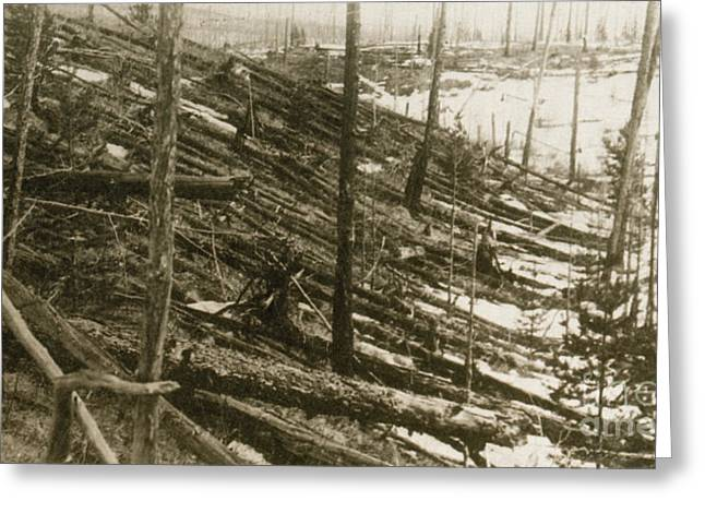 Tunguska Event, 1908 Greeting Card by Science Source