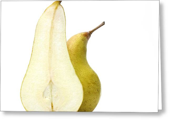 Two Pears Greeting Card by Bernard Jaubert