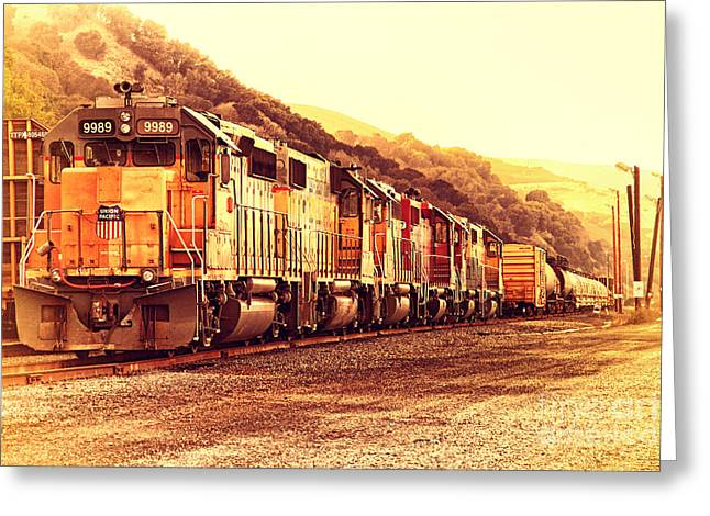 Union Pacific Locomotive Trains . 7d10563 Greeting Card by Wingsdomain Art and Photography