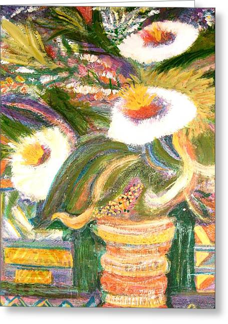 Up And Taking Nourishment Greeting Card by Anne-Elizabeth Whiteway