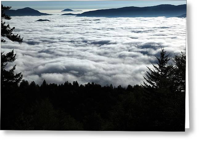 Greeting Card featuring the photograph Valley Of The Clouds by Doug McPherson