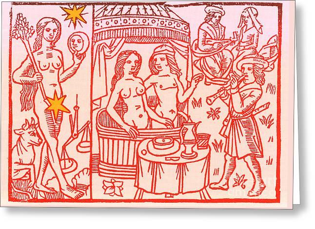 Venus, Roman Goddess Of Love Greeting Card by Science Source