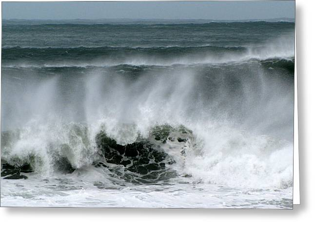 Greeting Card featuring the photograph Waves by Barbara Walsh
