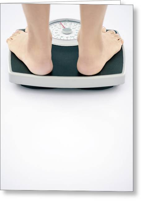 Weight Measurement Greeting Card by Gavin Kingcome