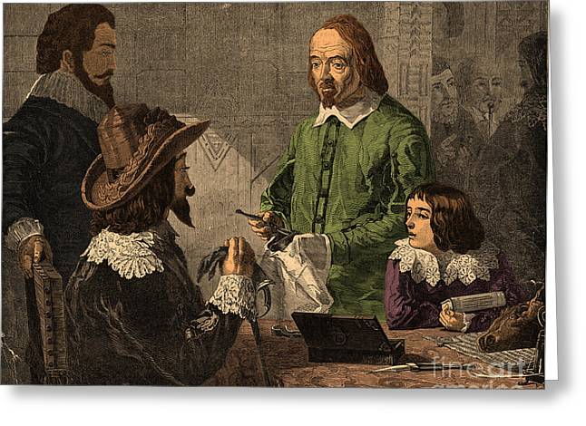 William Harvey, English Physician Greeting Card by Photo Researchers