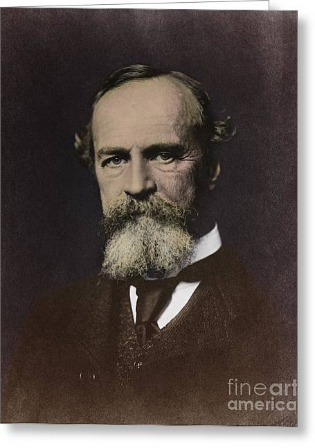 William James, American Psychologist Greeting Card