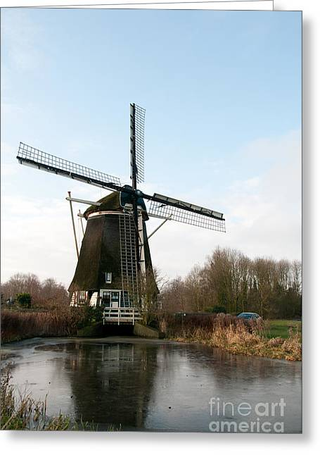 Windmill In Amsterdam Greeting Card by Carol Ailles