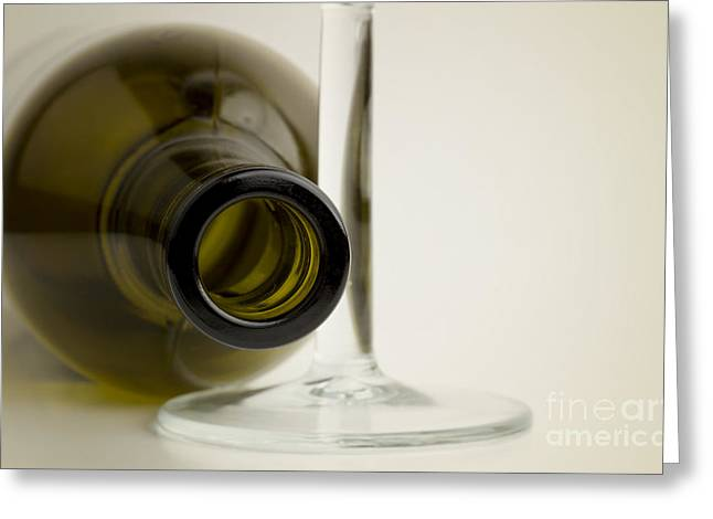 Wine Bottle Greeting Card by Blink Images