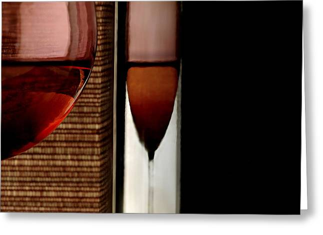 Wine Greeting Card by HD Connelly