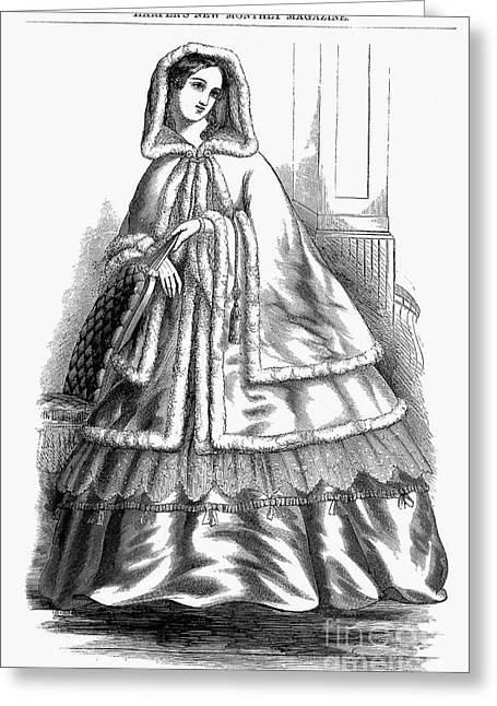 Womens Fashion. C1850s Greeting Card by Granger