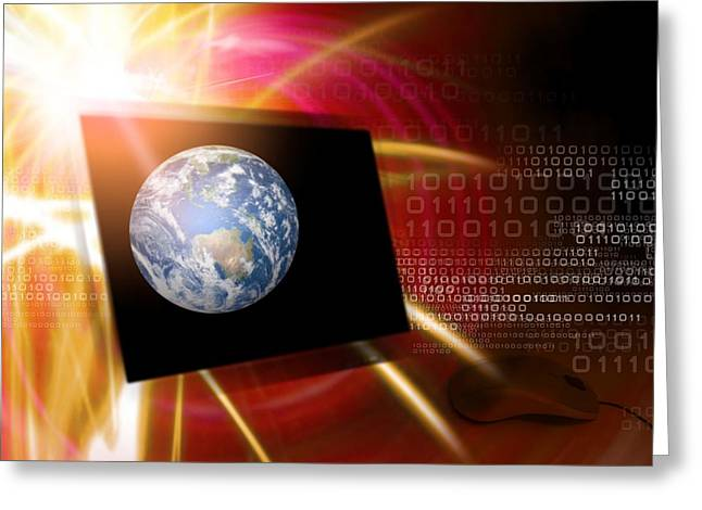 Worldwide Web, Conceptual Artwork Greeting Card by Victor Habbick Visions