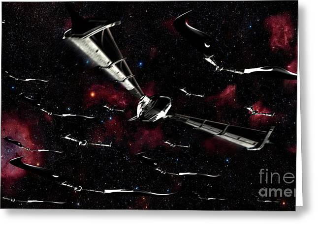 Xeelee Nightfighters, Inspired Greeting Card by Rhys Taylor